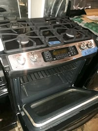 black and gray gas range oven 75 km
