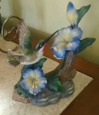 green and white humming bird and blue flower ceramic figurine Taylorsville, 39168