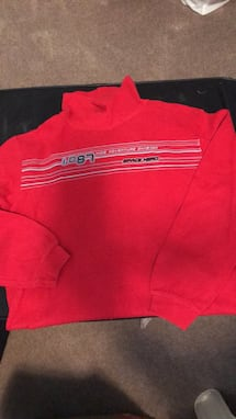 Youth red turtleneck sweater