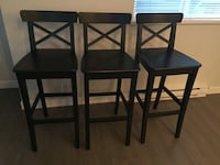 set of 3 stools barely used like new  Langley