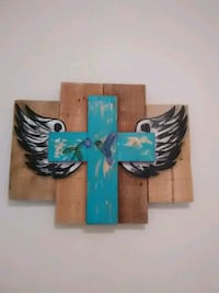 blue and black wooden wall decor College Station, 77845
