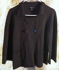 STYLE & CO XL WOOL BLEND BROWN LONG SLEEVE TOP WITH BUTTONS AND POCKETS Broomall