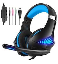 Brand New In Box Gaming Headset Xbox One, Stereo PS4 Headset with Mic, Noise Cancelling Over Ear Headphones with Surround Sound, LED Light, Soft Memory Earmuffs for Nintendo Switch PC Laptoph Hayward, 94544