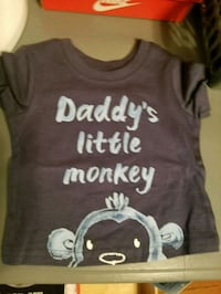 brown Daddy's little monkey print crew-neck t-shirt Barrie, L4N