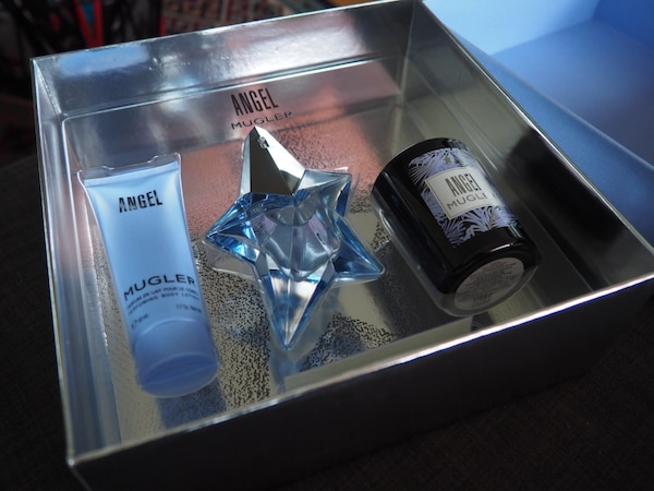 Used Perfume Angel Muglerbody Lotion And Candle For Sale In