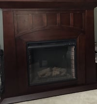 Dark brown expresso color electric fireplace