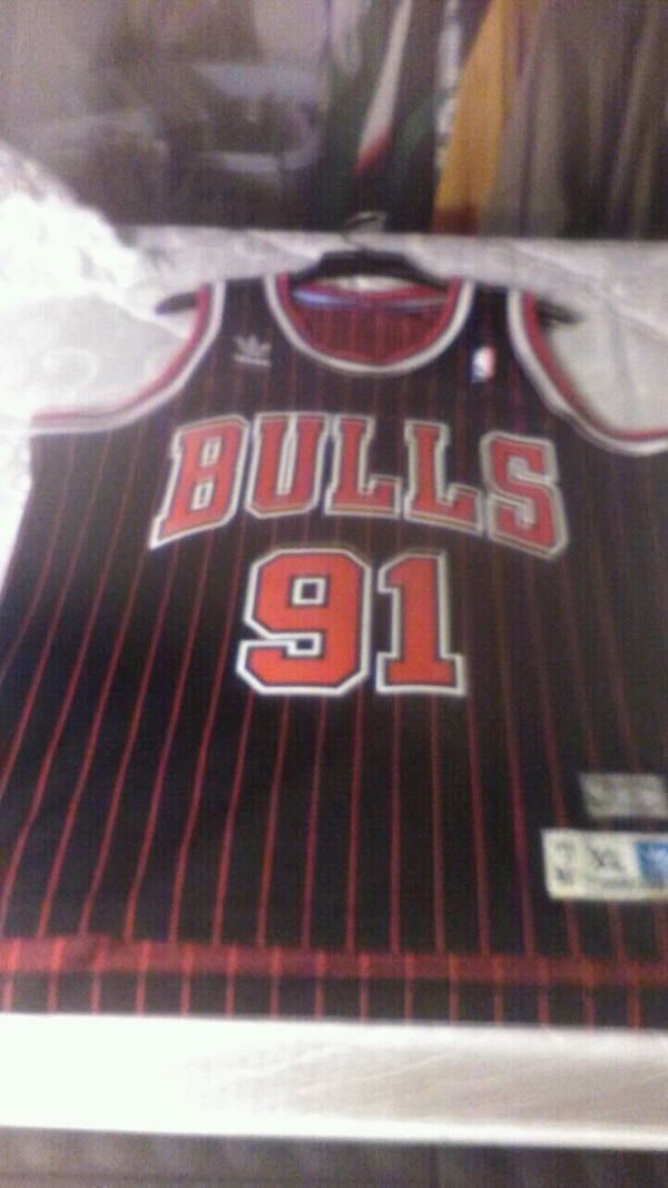 bd0d6db41 Used black and red Chicago Bulls 31 basketball jersey for sale in Beverly -  letgo