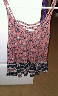 women's multicolored floral sleeveless top Columbus, 31907