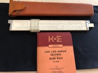 Keuffel & Esser Model N4081-3 LOG LOG Duplex Decitrig Slide Rule with Case 26 km