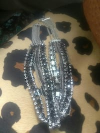 New necklace..silver and gray and black Oklahoma City, 73107
