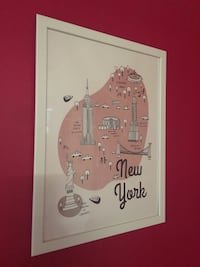 wooden framed poster New York, Paris n London  Rosemead, 91770