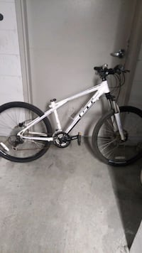 white and black hard tail mountain bike Toronto, M5E 1Z6