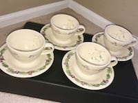 Pfaltzgraff Jamberry Stoneware Cup and Saucer- Set of 4 Highlands Ranch, 80129