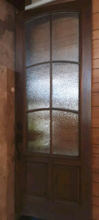 96X36 solid Mahogany /with rain glass panels Sand Springs