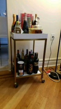 White + Gold Bar Stand -  Queens, 11375
