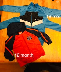 12 18 and 24 month jackets the 2 blue ones are Nike  Lacy-Lakeview, 76705