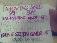Moving sale SAT 28TH AND SUN 29TH West Covina