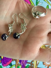 Sterling Silver Dolphin earrings $25 / Sterling Silver Dolphin  Ring $25  Alexandria, 22311