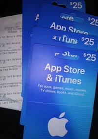 iTunes cards  Costa Mesa, 92626
