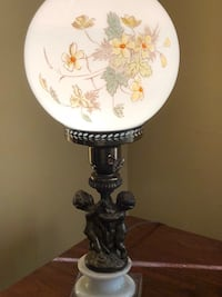 white and brown floral table lamp Ashtabula, 44004