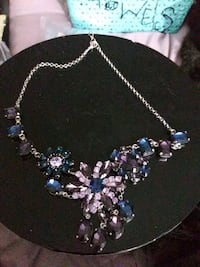 silver and blue gemstone necklace Upland, 91786