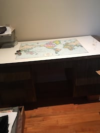 rectangular brown wooden sideboard and world map Vaughan, L6A 0H3