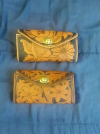 Hand made leather clutch purses
