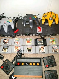 4 systems all cords and games 350.00 all or 75 per system