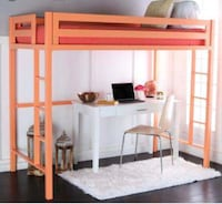 Chic Twin Metal Loft Bed!  Washington