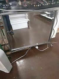 stainless steel framed glass top table Allentown