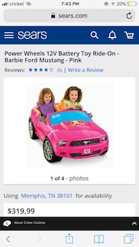 Pink and purple ride on toy car screenshot Riverdale Park, 20737