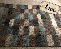 Blue and brown area rug Suffolk, 23435
