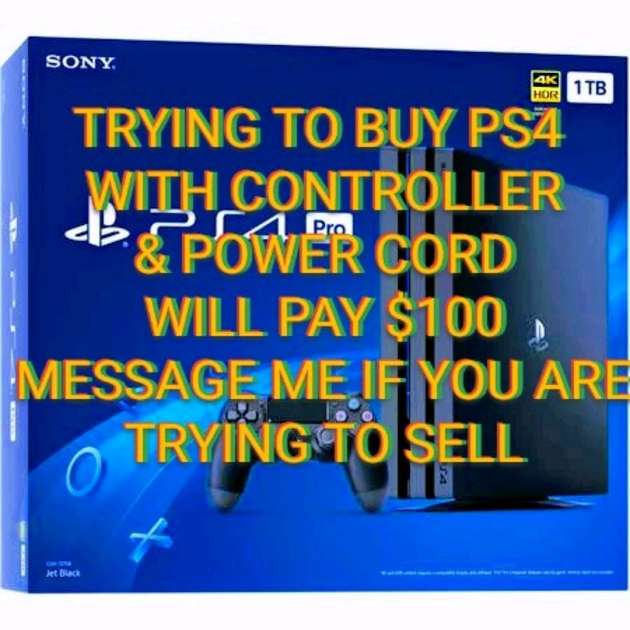 Trying to buy PS4