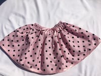 Unique hand maid baby pink skirt with black poco dots and pink details  Skokie, 60077