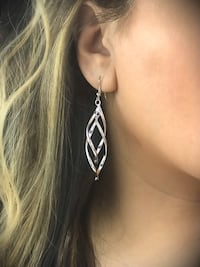Silver Plated Illusion Earrings