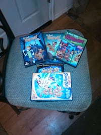 (1) Be Cool Scooby-Doo Season 1, part one and two; (2) What's New Scooby-Doo Vol. 2; (3) Scooby-Doo 3-pk fun; (4) The New Scooby-Doo Movies Disc 2-4 Collinsville