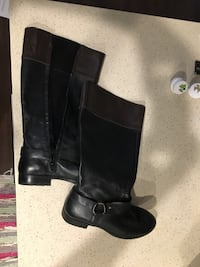 Black drown women boots size 9 leather Washington, 20001