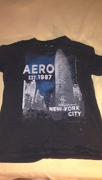 black and grey Aero New York City graphic crew-neck shirt Windsor, N8W