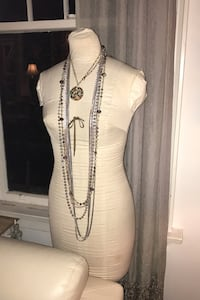 Dress model with necklaces  Vancouver, V6H 1S7