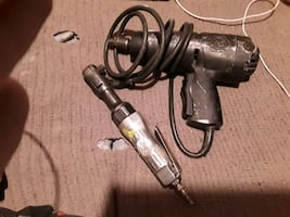 Tools. Impact gun and torque wrench.