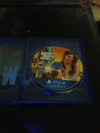 Grand Theft Auto Five PS4 game disc Edmonton, T6T 0K5