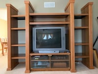 Solid Oak Entertainment Center Original price was $4500 no offers