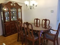 brown wooden dining table set London, N5W