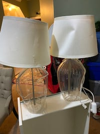 Two glass lamps from Ikea.   Price for each lamp is $40 Silver Spring