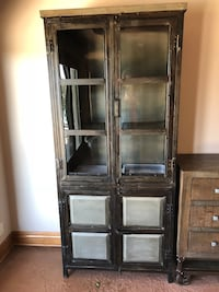 "Industrial chic cabinet. 6'8""x2'11"" used less than a year Elkhorn, 68022"