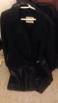 Long leather jackets, victoria leather size 40  and Blair boutique size medium. St Catharines, L2S