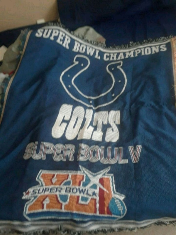 Indianapolis Colts super bowl blanket  a8b6938b-065f-4143-a5d7-b6018187f94a