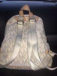 white and gray Michael Kors backpack Houston, 77064