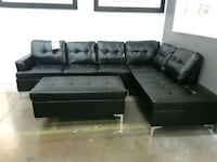 Bonded leather sectional with ottoman  Farmers Branch, 75234