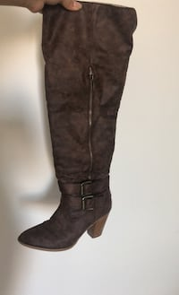 JustFab Thigh High Mid Heeled Boots, size 6.5 Toronto, M4Y 1K3